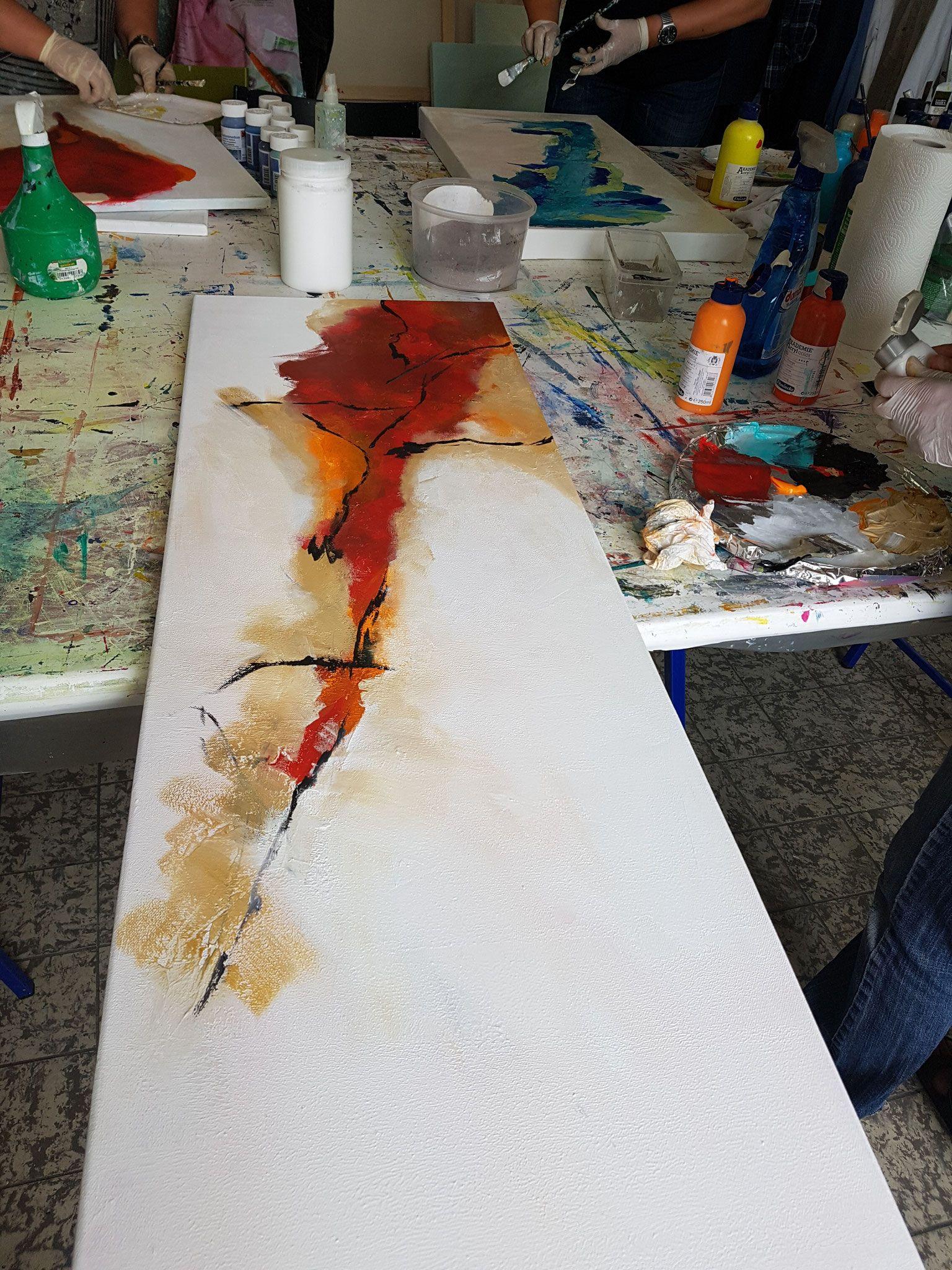 Impressionen Aus Dem Intensivkurs In Der Acrylmalerei