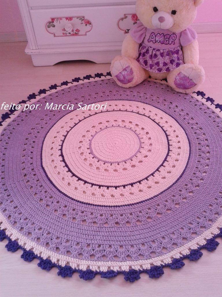 Tapete De Croche Para Quarto Infantil Tejidos Pinterest Tejido -> Tapete Pra Sala De Croche