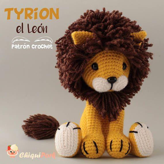 Lion Crochet Pattern Amigurumi Patterns Pdf Tutorial Tyrion The