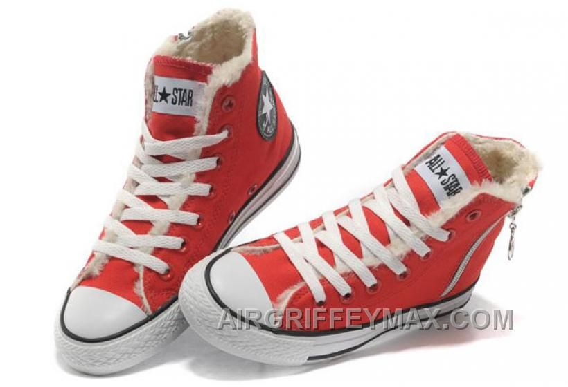 Discount Red CONVERSE Winter Chuck Taylor All Star Soft Nap