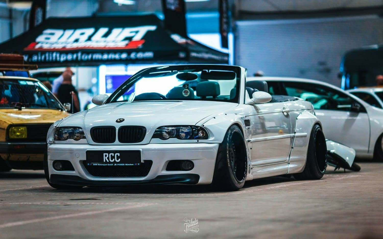 Bmw E46 M3 White Cabrio Widebody Bmw E46 Bmw Bmw Cars