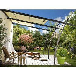Anbaupergola Metall anbaupergola sydney mit verstellbarer markise | terrasse und