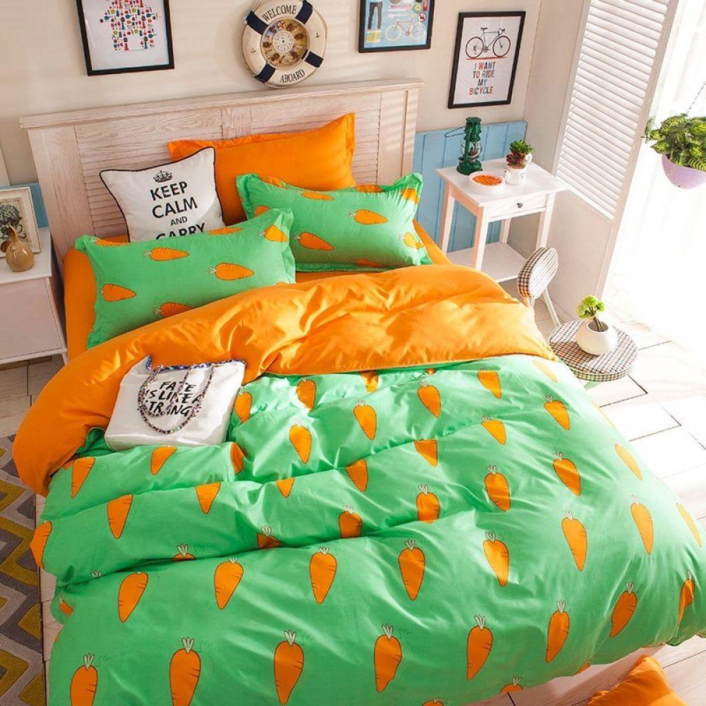 Copripiumino Keep Calm.Fashion Bedding Set Carrot Free Worldwide Shipping