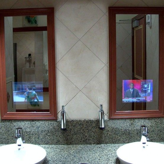 Bathroom Mirrors With Built In Tvs Bathroom Mirror Best