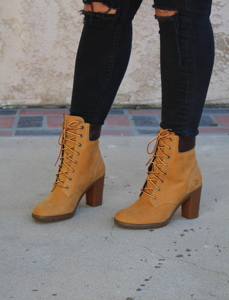 bd791169c40 Timberland Glancy Wheat Heeled Boot