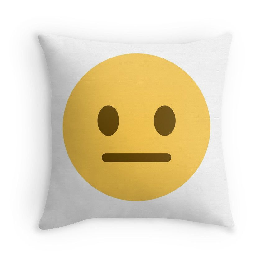 neutral face emoji | Throw Pillow