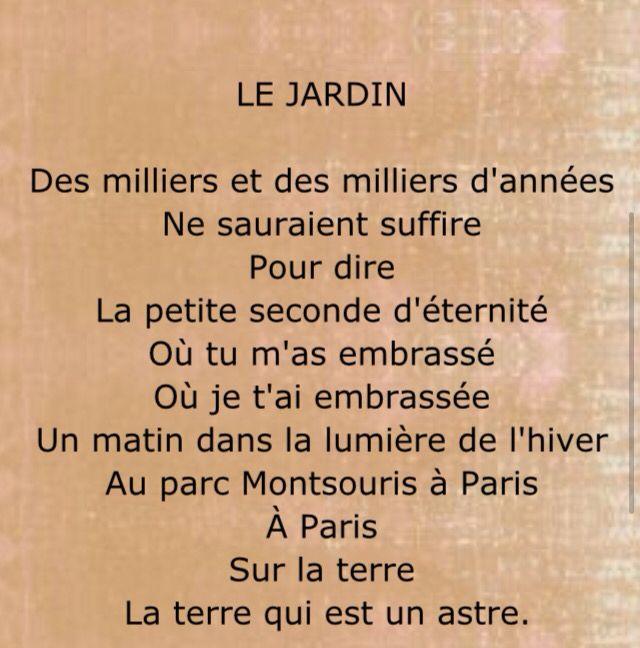 Le Jardin Par Jacques Prévert Prevert Jacques Jacques