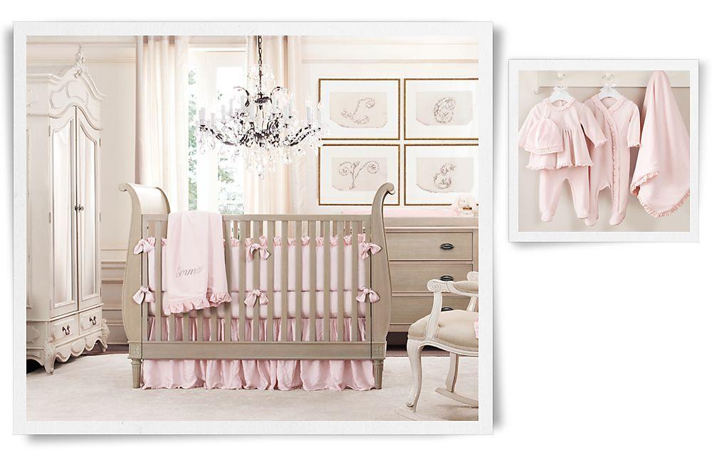 rocker, gray furniture, monogrammed bedding...whole look! | Restoration Baby