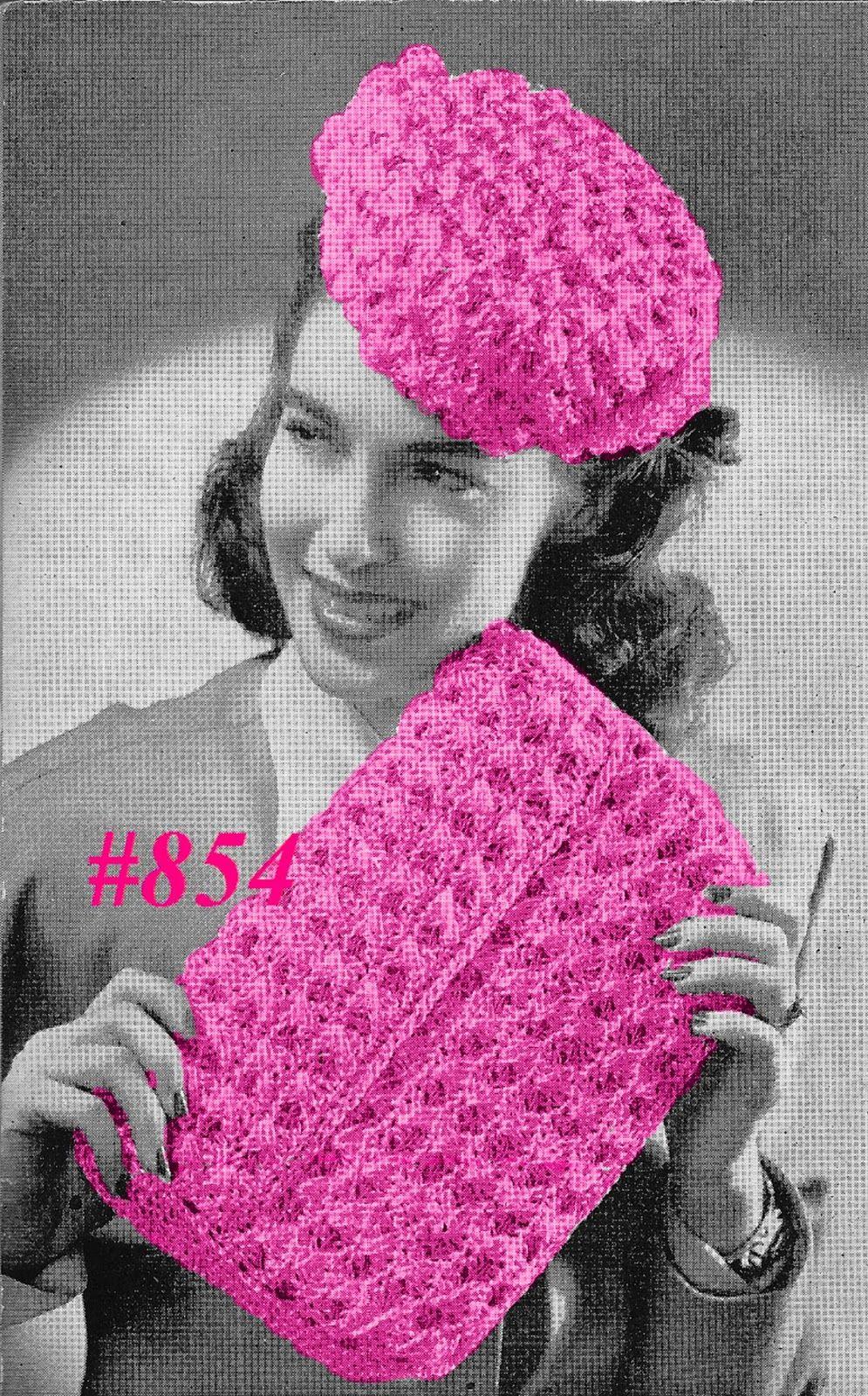 Miss Julia's Vintage Patterns: #854 - 1940s Rosette Hat & Clutch ...