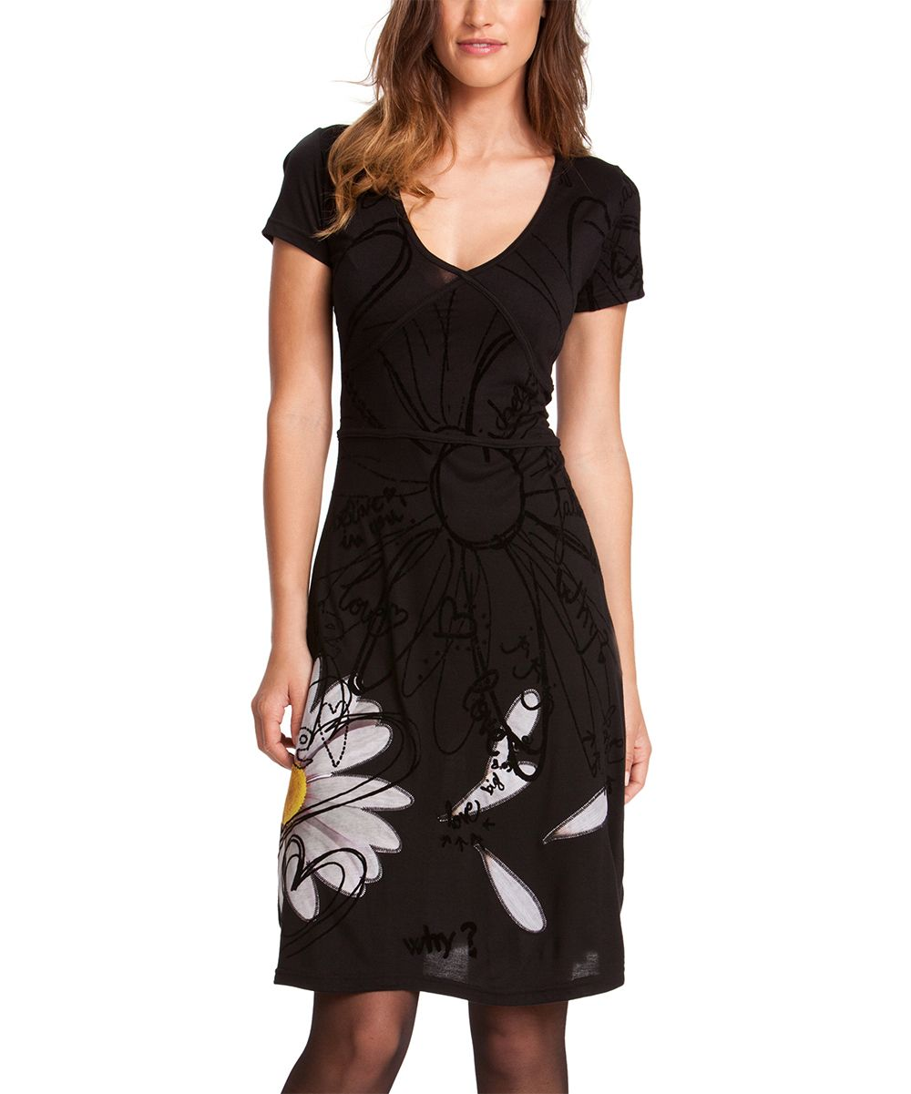 Desigual Black Mertixellen Dress - Women | zulily