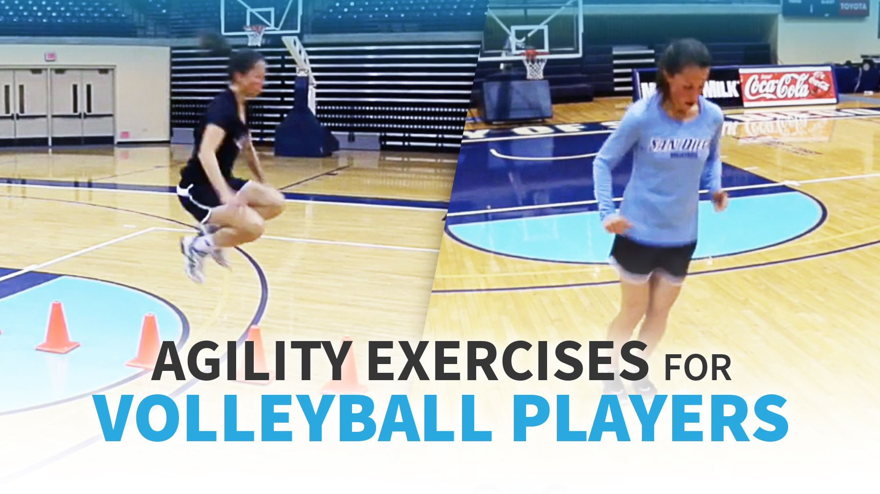 Agility Exercises For Volleyball Players The Art Of Coaching Volleyball Volleyball Conditioning Volleyball Workouts Volleyball Training