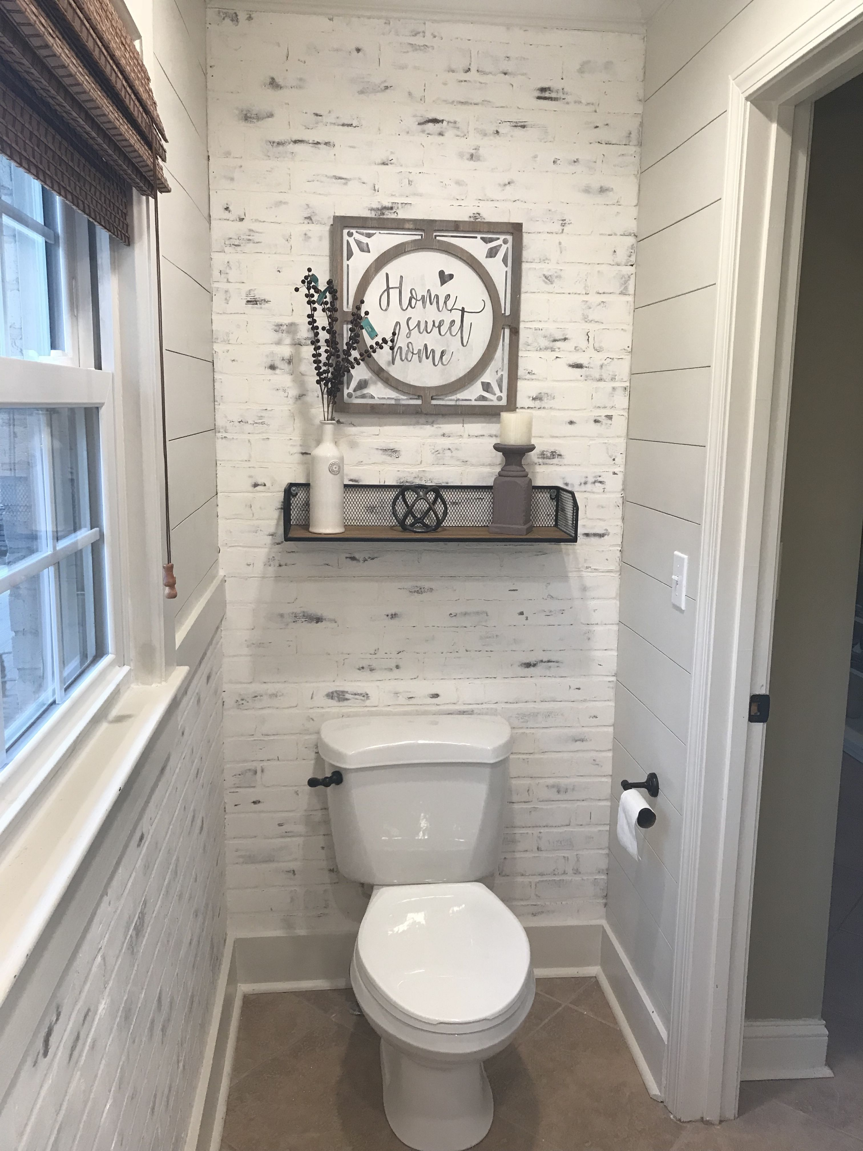 I Have Had A Lot Of Interest In My Faux Brick Accent Wall So I Thought I Would Show You How Easy Is It To Do On Yo Toilet Room Decor