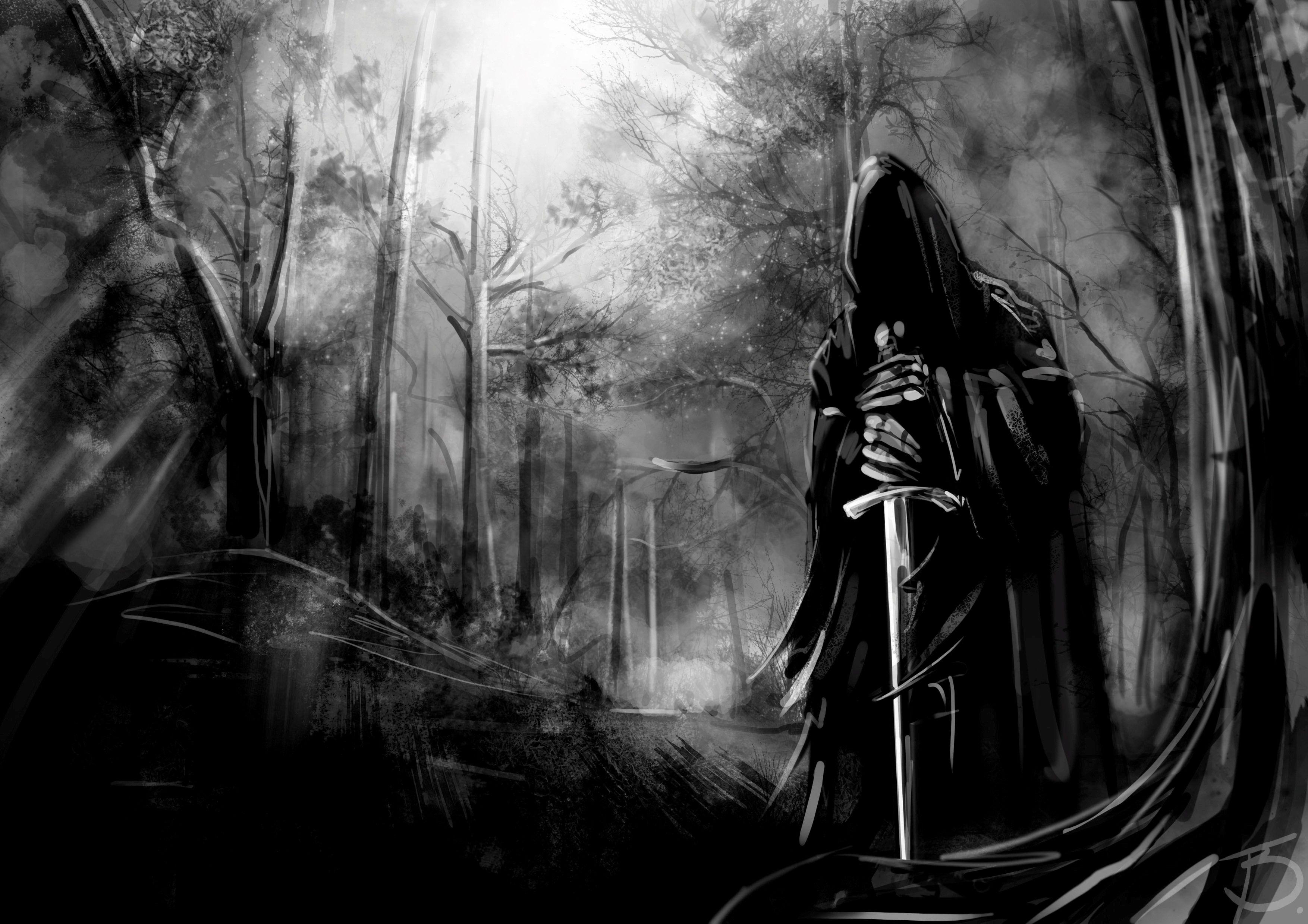 evil demond Evil Demon Wallpaper Evil with sword in dark