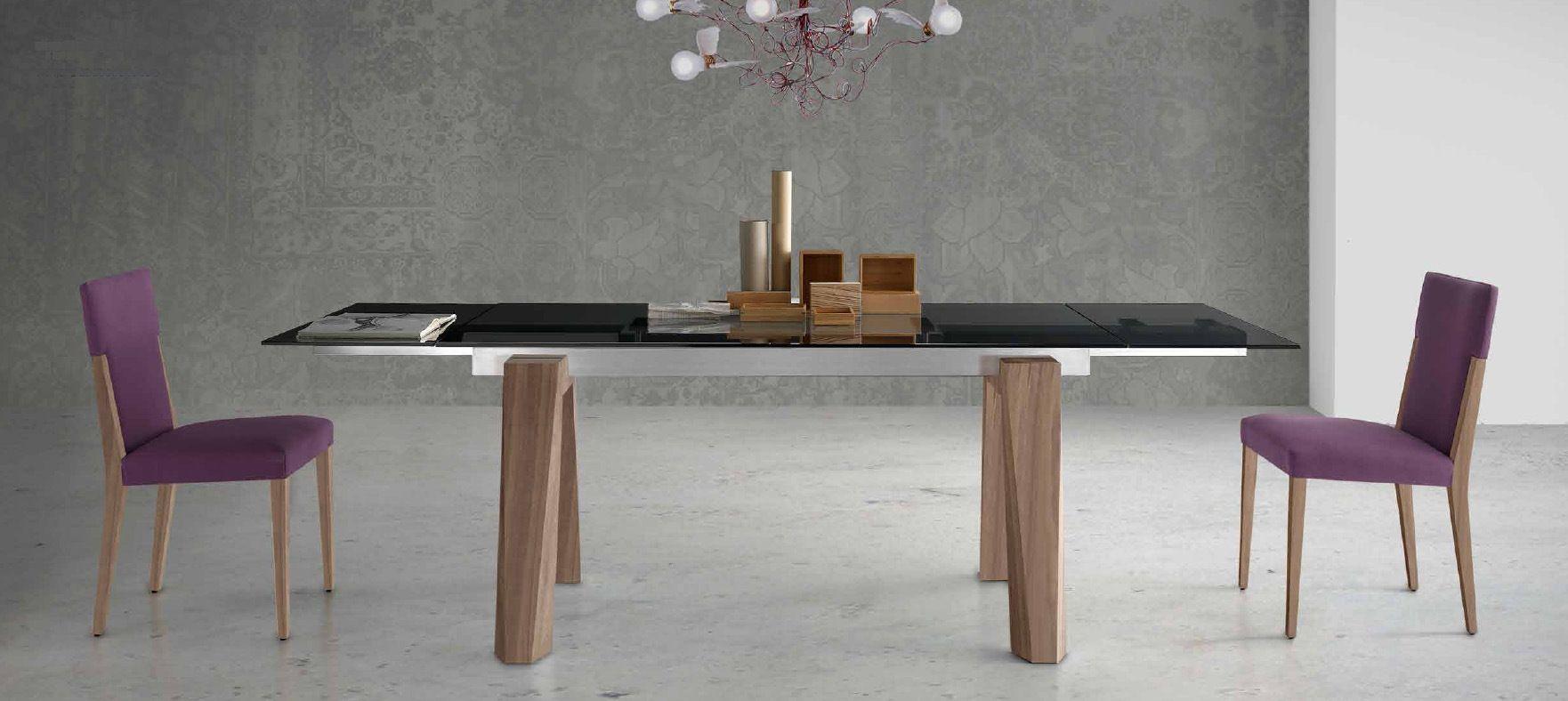 Mesa extensible madera y cristal - Villalba Interiorismo | Mesas de ...