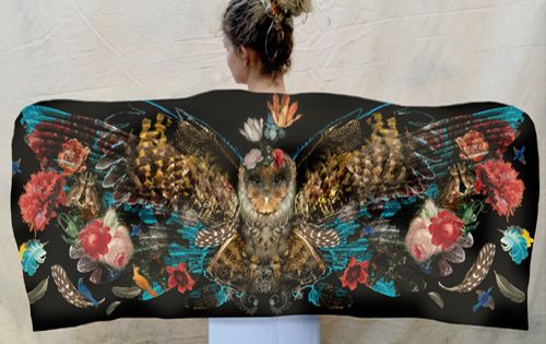 Owl Wing Scarves by Chrissy Ink Design.