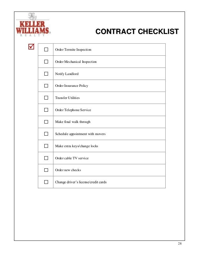 Contract To Close Checklist Real Estate  Google Search  Reals
