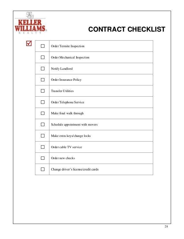 Contract To Close Checklist Real Estate Google Search Real