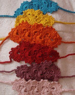Little Treasures: ganchillo abundancia de cintas para la cabeza!                                                                                                                                                                                 Más