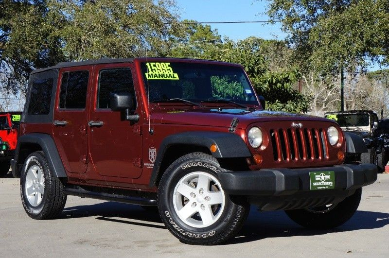 2008 Red Rock Pearlcoat Jeep Wrangler Unlimited X Rwd 6 Speed Manual Hard Top 142k Miles For Onl 2008 Jeep Wrangler Jeep Wrangler Jeep Wrangler Unlimited