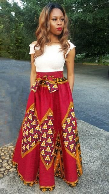 bcd1aae1a4 Women s Authentic Red African Print Skirt Size XS-5X – LSM Boutique s  Fashion N Fragrances