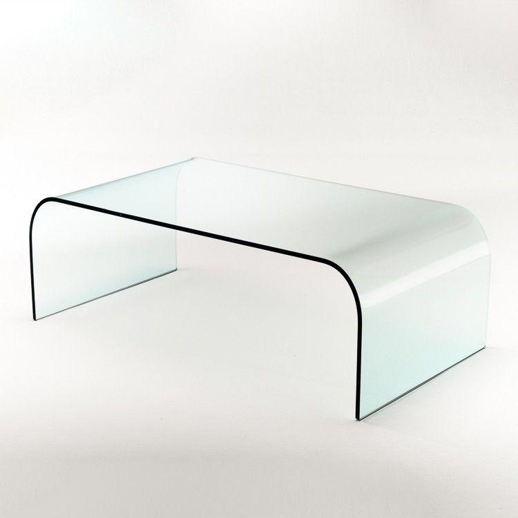 Tavolino rettangolare in vetro curvato   Tavolini da salotto ...