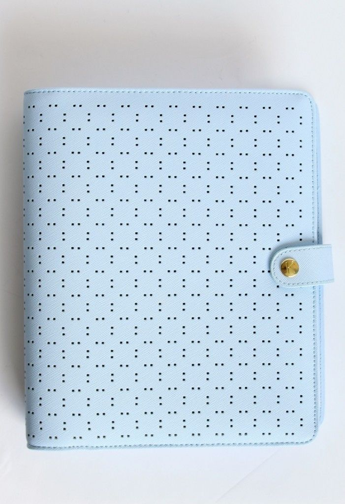 kikkik perforated ice blue planner in large full review if you