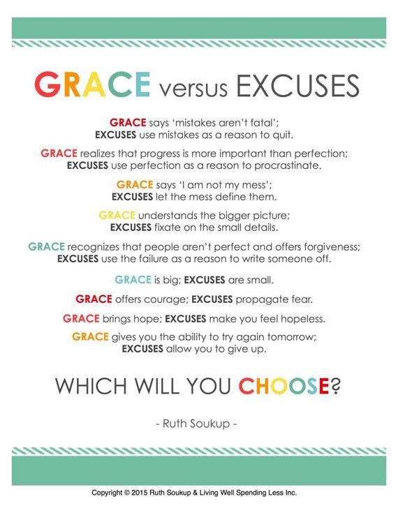 Fwd: Grace vs. Excuses (FREE PRINTABLE!) - Outlook Web Access Light