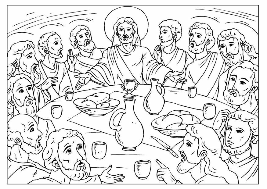 Ultima Cena Last Supper Bible Coloring Pages Coloring Pages