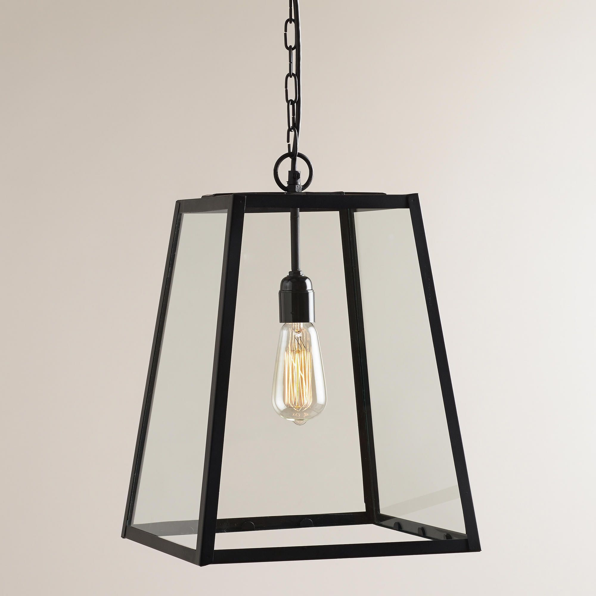 Bought $99 Four Sided Glass Hanging Pendant Lantern - World Market 1