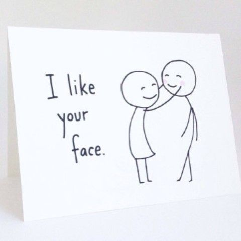 I like your face card spotted on lindsay eller keep i like your face card spotted on keep boyfriend birthday cardscute bookmarktalkfo Choice Image