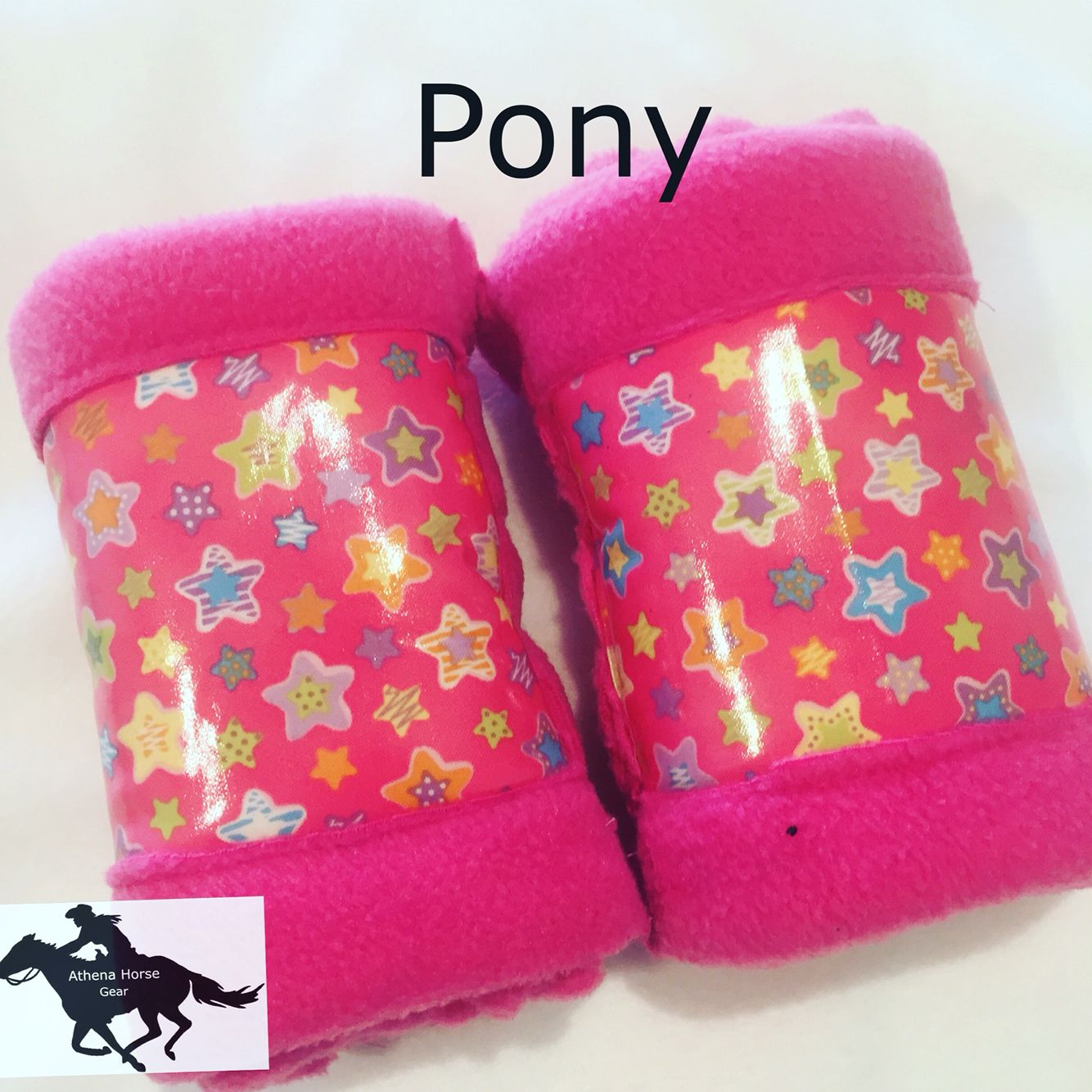 Cute pink pony set of boots   https://www.etsy.com/au/shop/AthenaHorseGear  https://www.facebook.com/Athena-Horse-Gear-1611924915787543/