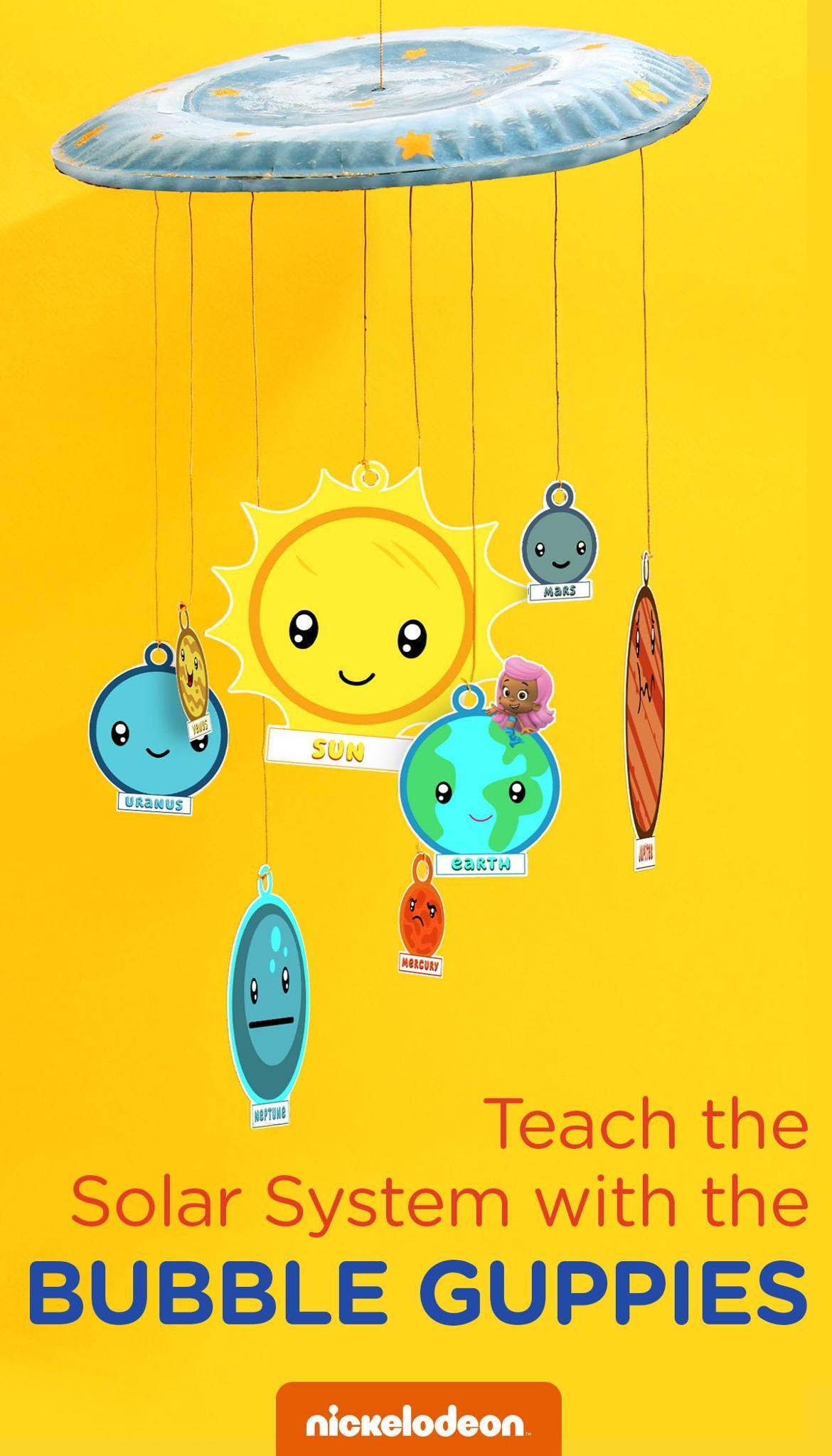 Bubble Guppies Solar System Craft | Preschool Milestones ...