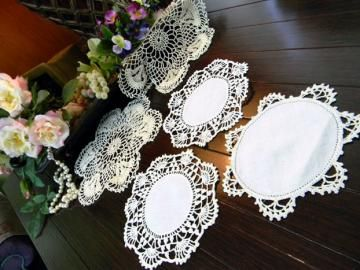 5 Assorted Antique Doilies Shades of White and Light Ecru 8060 by VintageKeepsakes for $15.95