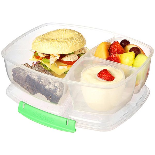 Sistema Green Triple Split Lunch to Go Container 899 liked on