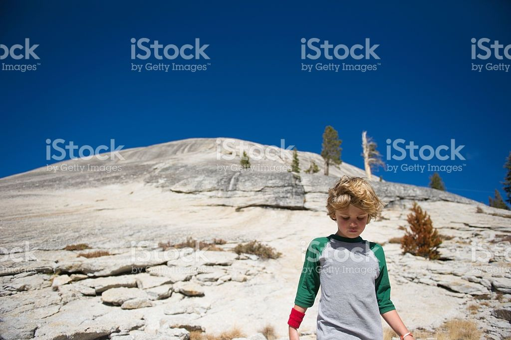 Hiking in Tuolumne Meadows royalty-free stock photo