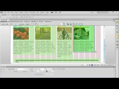 Fluid Grid Layout In Dreamweaver Cs6 Grid Layouts Web Design Dreamweaver