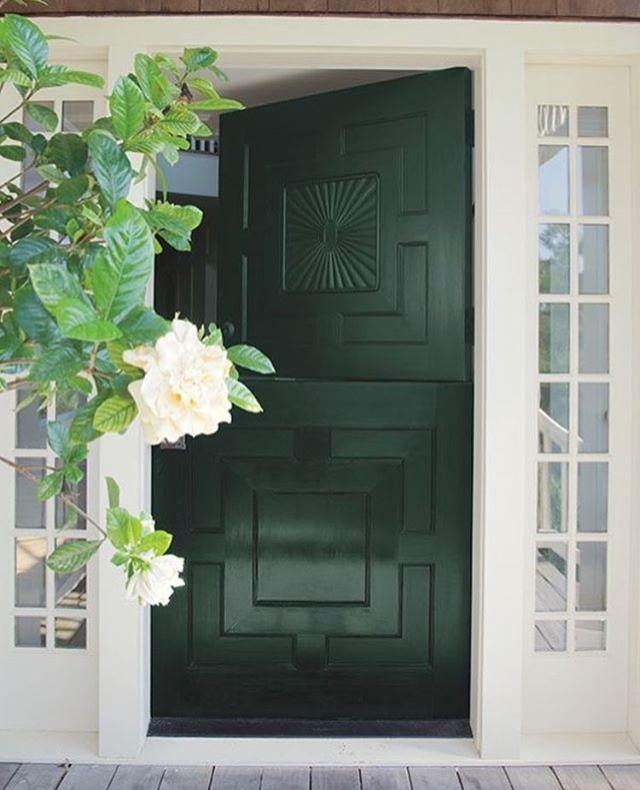 Forest Green Dark Green Front Door Dutch Door Paint Color Via