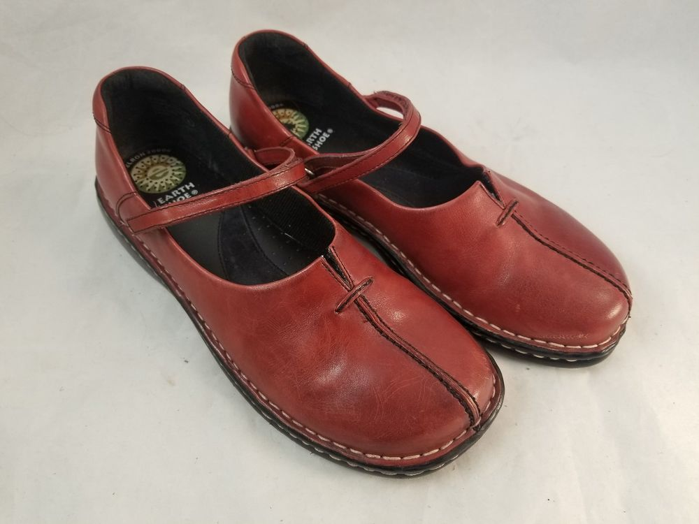 WOMAN/'s Rust TRADITIONAL NO BUTTON THICK SOLE MOCCASINS Earthing Shoes