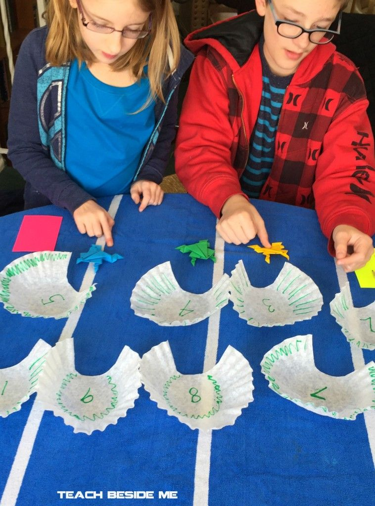 Leap Frog Math Game & Origami Jumping Frog Origami frog