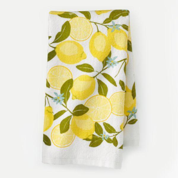 Sonoma Life Style Lemon Print Kitchen Towel 7 99 With Images