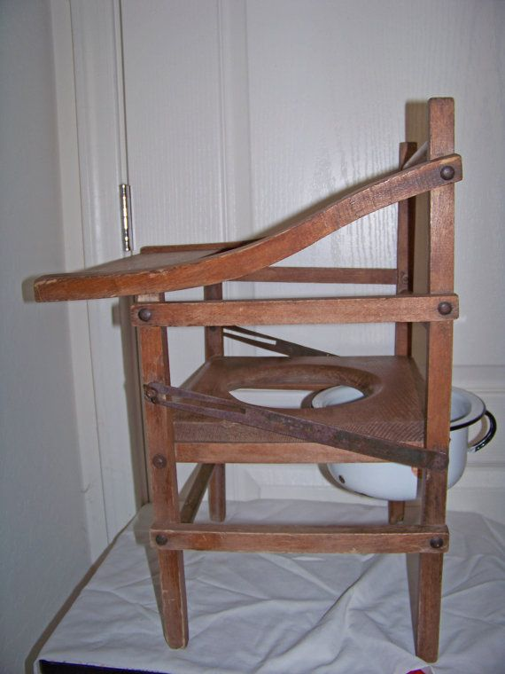 Antique Childs Wooden Potty Chair with tray and by SanMonet, $145.00 - Antique Childs Wooden Potty Chair With Tray And By SanMonet