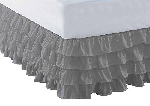 Robot Check Bedskirt Ruffle Bedding Ruffle Bed Skirts Ruffled bed skirt queen