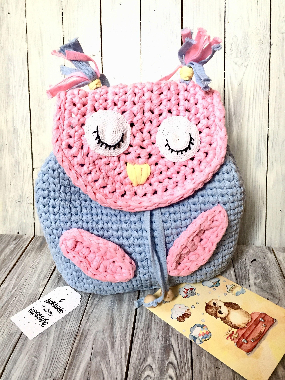 d36bdcf83009 Рюкзак вязаный оригинальный сова для ребенка сумка для прогулок рюкзак  животное голубой розовый модный рюкзак портфель