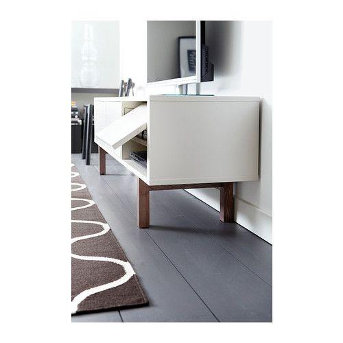best mueble tv efecto nogal tinte gris lappviken blanco