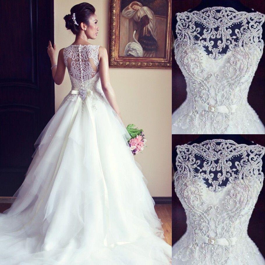 Jeweled Wedding Gowns: Elegant Beaded Wedding Dresses/Bridal Gown