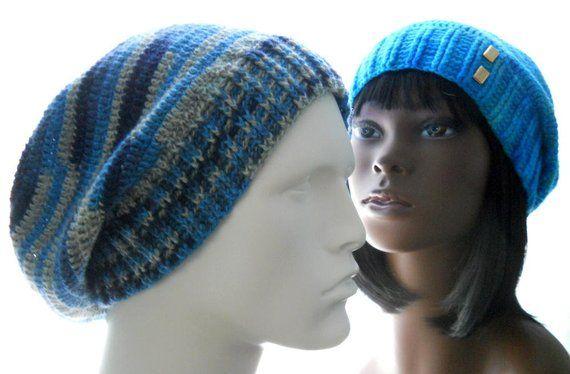 65578fcf2704f CROCHET PATTERN  The Sock-Yarn Ribby Slouchy Hat Pattern for Men and Women