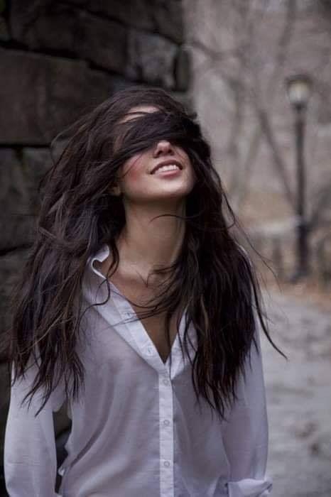 Pin by Tiana on She ♡ | Long dark hair, Long hair styles