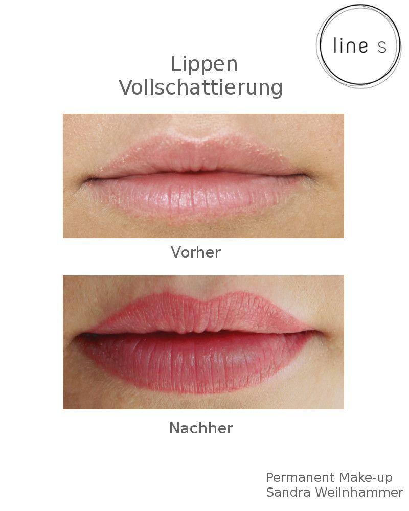 Permanent Make Up Lippen Vollschattierung Lippen Permanent Make Up Make Up Lippen Lippen