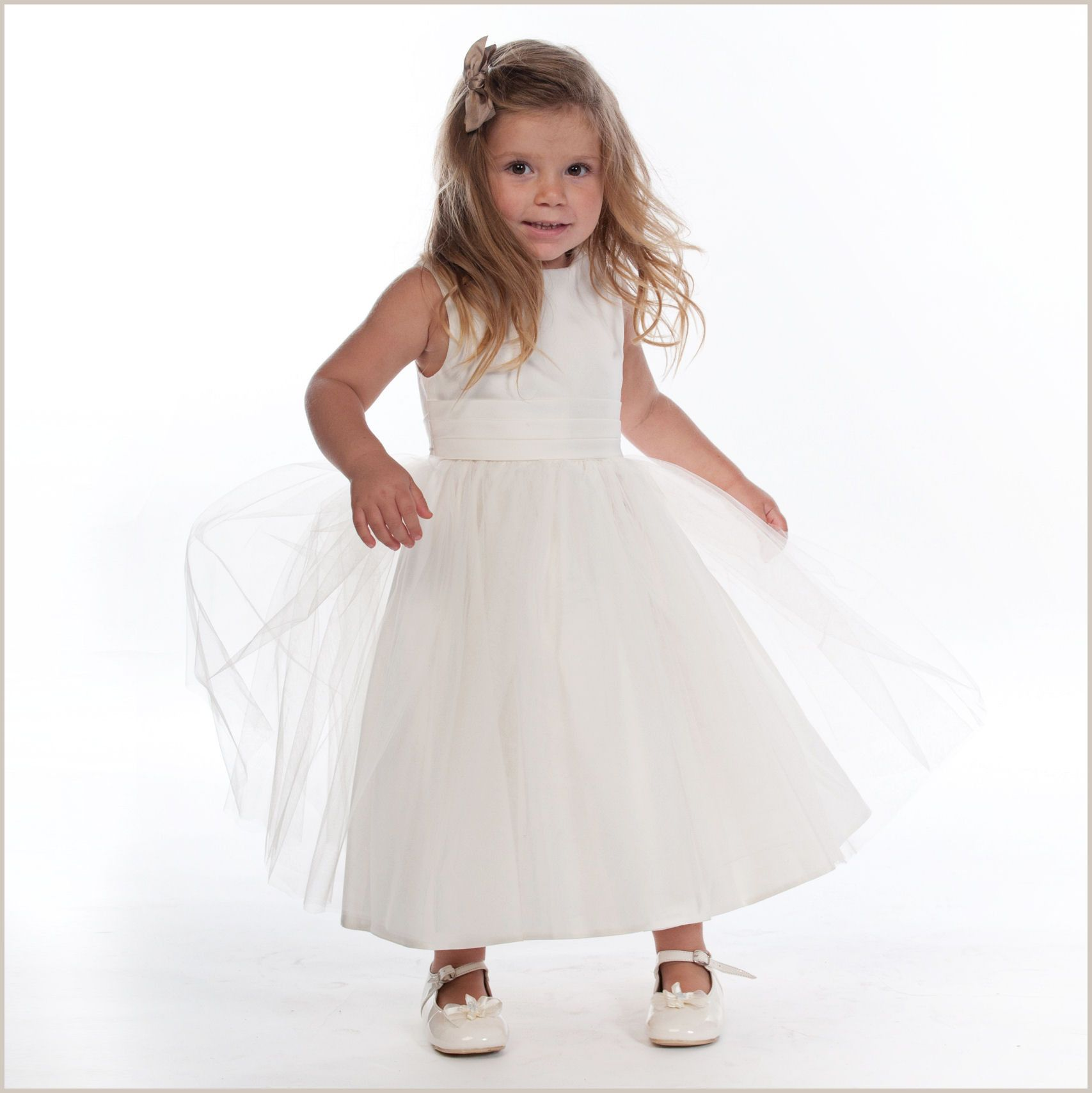 Demigirlcouk vienna ivory tulle dress with ivory sash