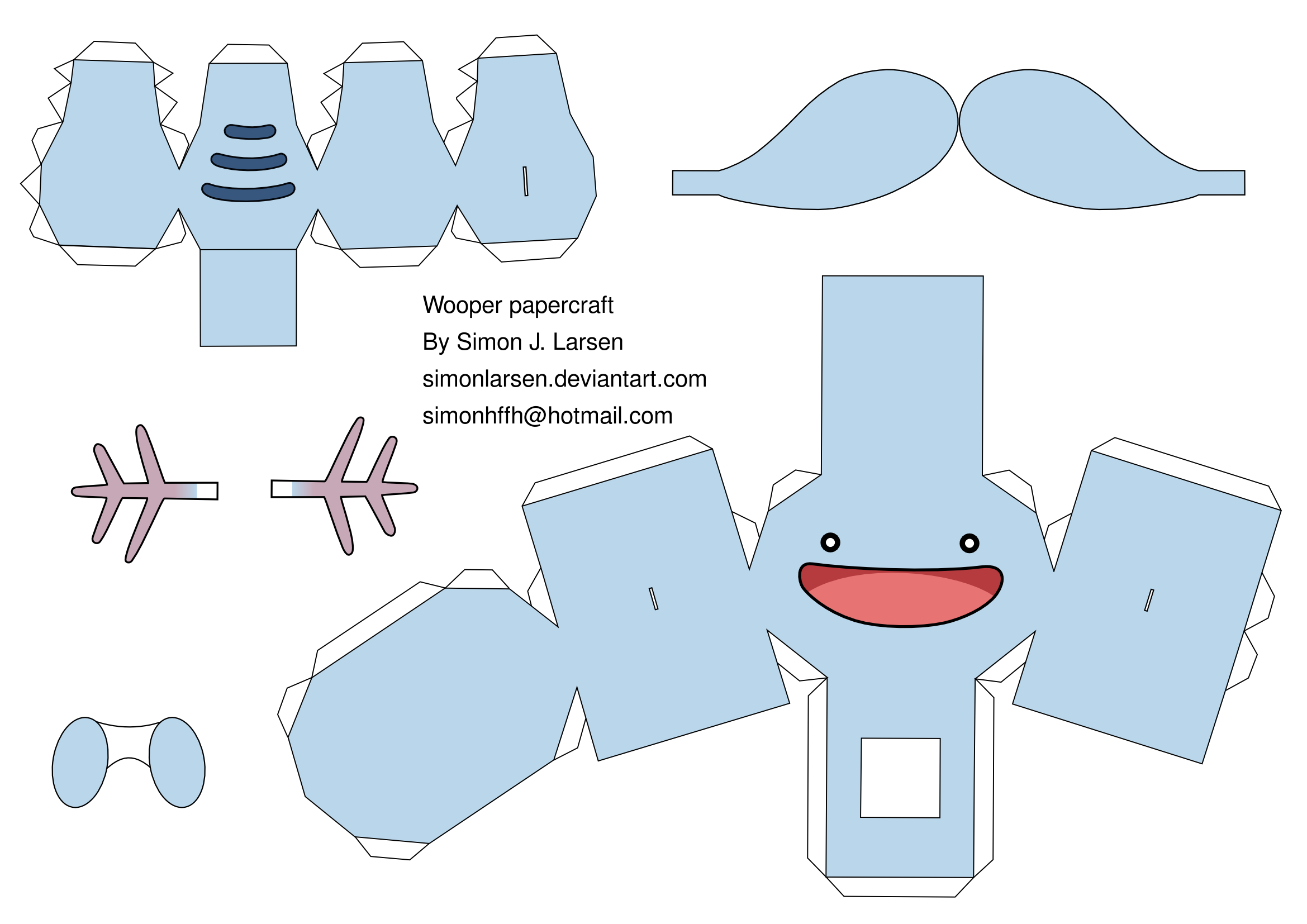 Easy Pokemon Papercraft Templates Pokemon Pinterest Juguetes
